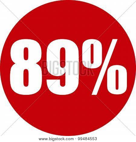 89 Percent Icon