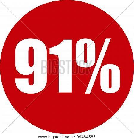 91 Percent Icon