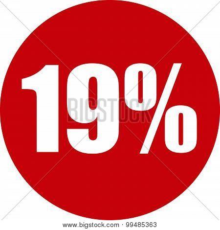 19 Percent Icon