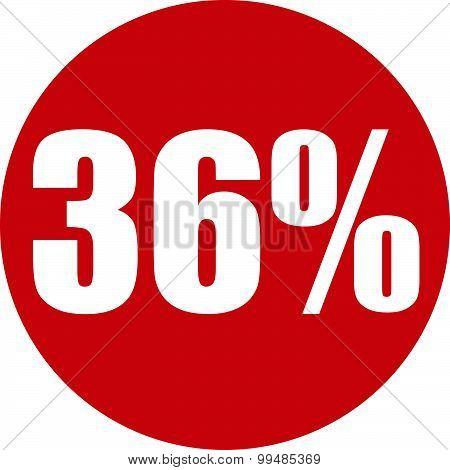 36 Percent Icon