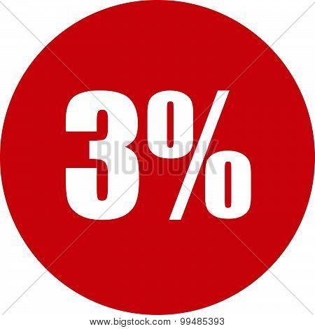 3 Percent Icon