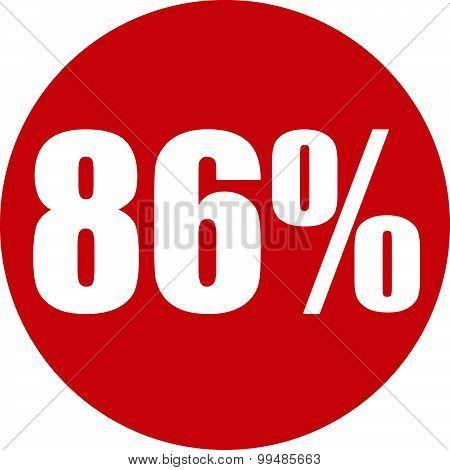 86 Percent Icon