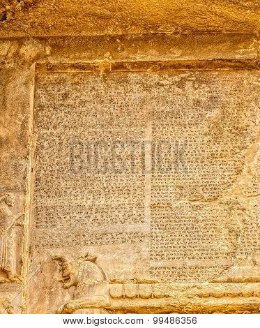 Naqsh-e Rustam cuneiform letters