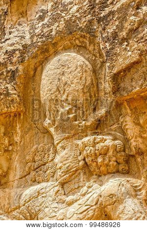 Naqsh-e Rustam relief Shapur I head
