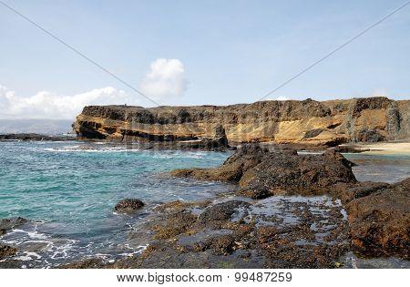 Ocean Bank And Cliff In Djeu