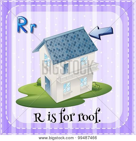 Alphabet R is for roof illustration