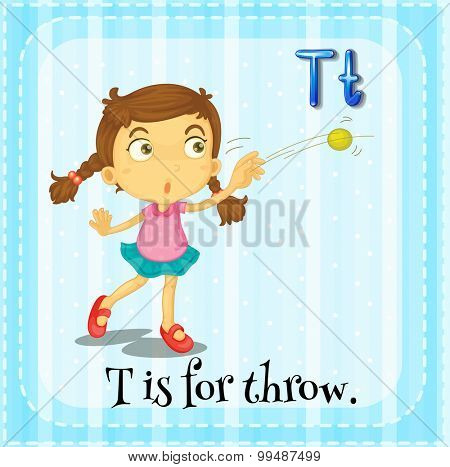 Alphabet T is for throw illustration