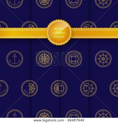 Seamless Patterns With Marine Element