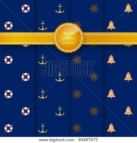 Marine Seamless Patterns