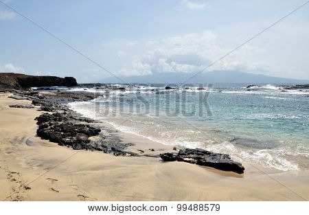 Rock Chain By The Beach