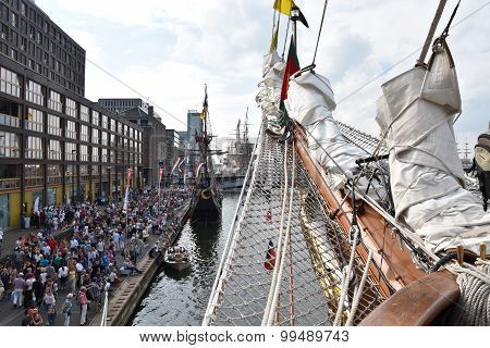 The port of Amsterdam during Sail 2015