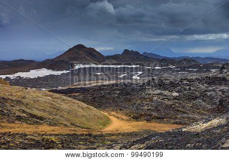 Landscape around Mount Krafla