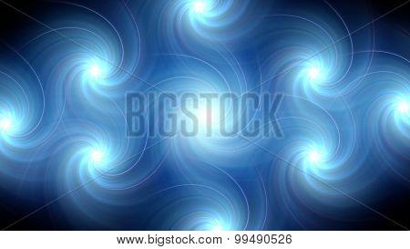 Twirl Flare Pattern Blue