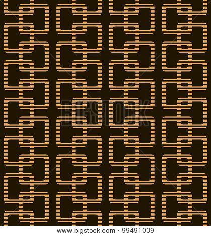 Abstract Seamless Geometric Pattern In Black And Orange Colors