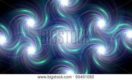 Twirl Flare Pattern Blue Line Fade Out