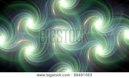 Twirl Flare Pattern Green Line Fade Out