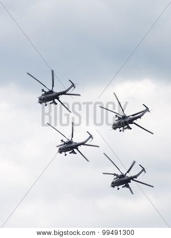 Mi-28 Demonstrates The Complex Aerobatics