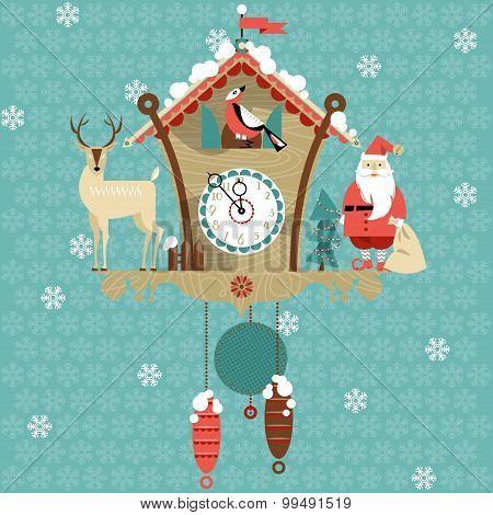 Christmas Cuckoo Clock.