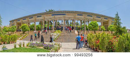 Tomb of Hafez poet panoramic view