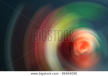 Multicolored Abstract Background Radial Blur