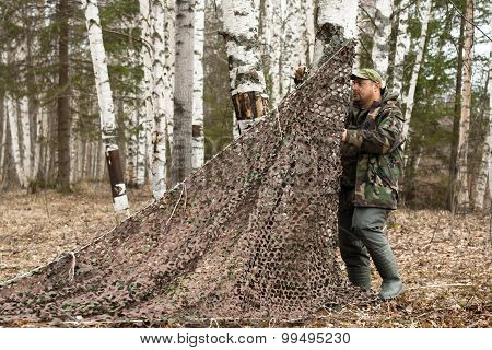 Hunter Place Camouflage Netting