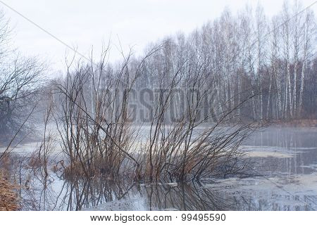 Nightfall On The Hunting Lake