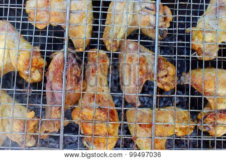 barbecue from chicken 's meat