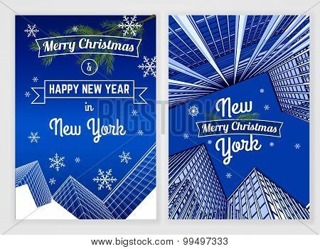 New Year postcard template