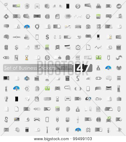 Set of business stickers