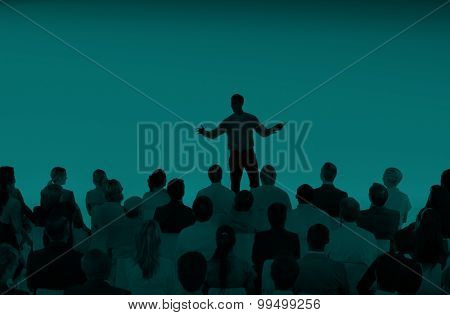 Business People Seminar Conference Corporate Presentation Concept