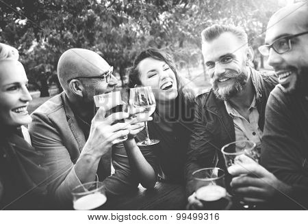 Party Celebrating Friendship Drinking Togetherness Concept