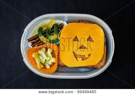Lunch Box For Children In The Form Of Monsters For Halloween