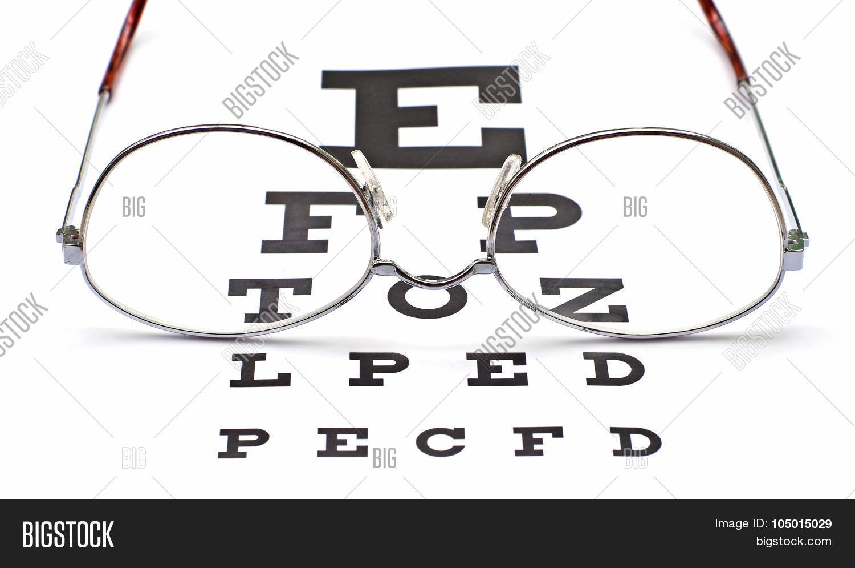 Glasses on snellen eye sight chart image photo bigstock glasses on snellen eye sight chart test nvjuhfo Images