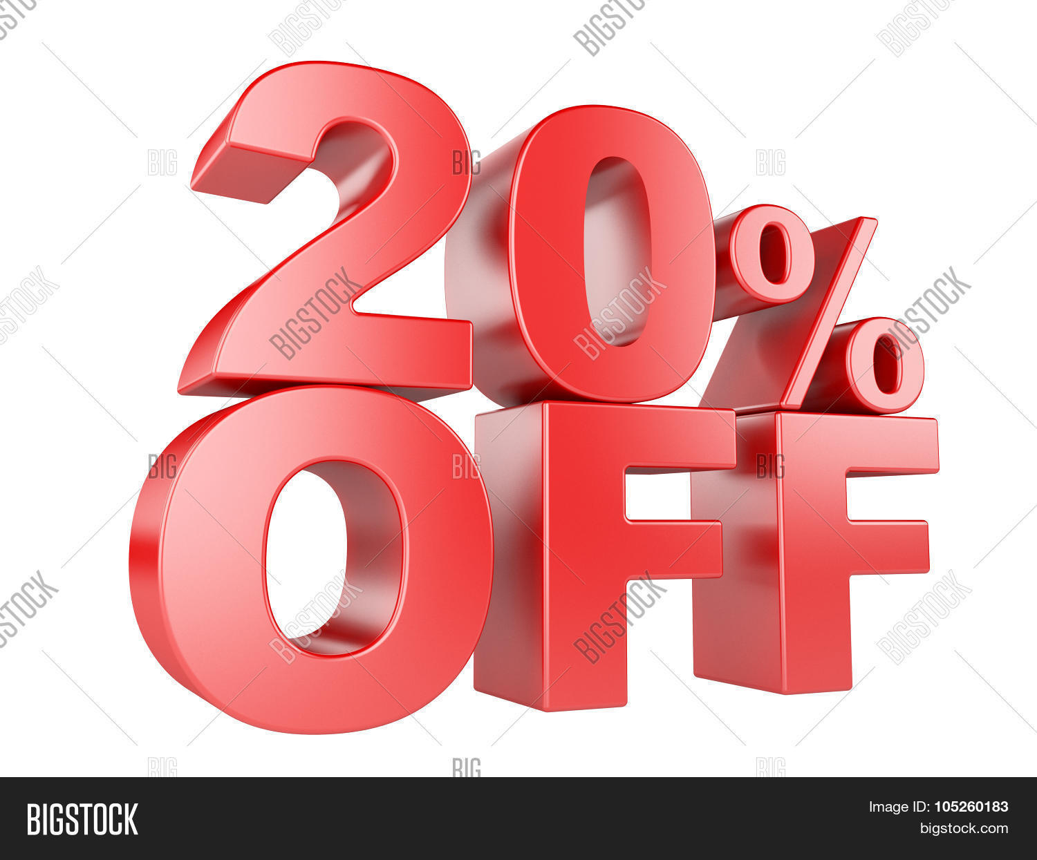 20 percent off 3d icon stock photo stock images bigstock. Black Bedroom Furniture Sets. Home Design Ideas