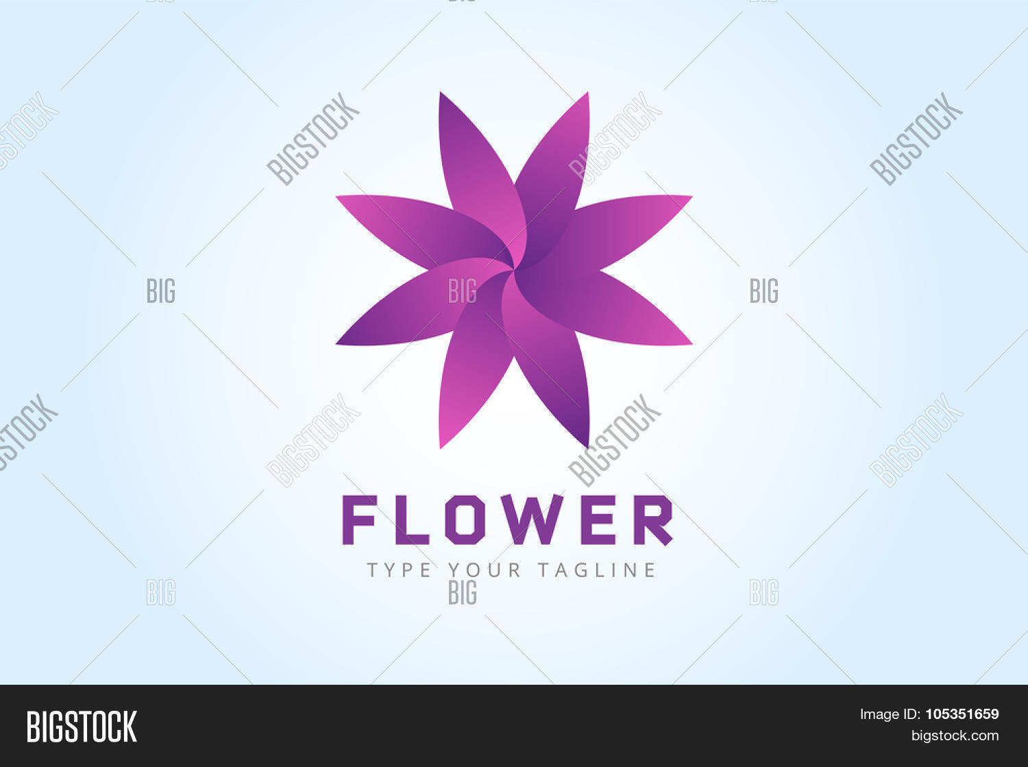 Abstract Flower Icons Stock Vector: Abstract Flower Vector Icon Logo. Nature Flower Icon