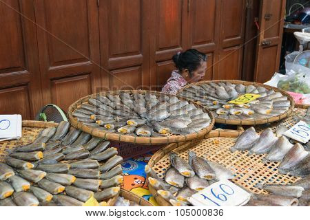 Salted Fish In Sam Chuk Market