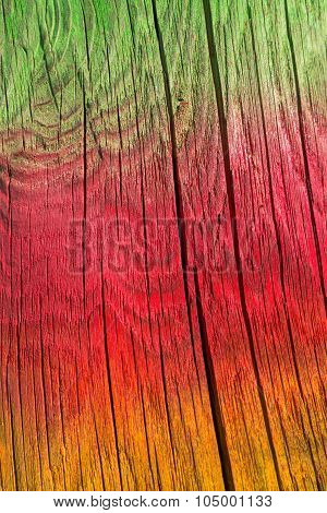 Colored cracked wood texture