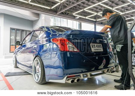 Polishing The Car