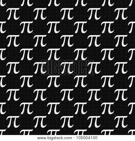 Black And White Pi Symbol Design Tile Pattern Repeat Background