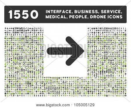Arrow Right Icon And More Interface, Business, Tools, People, Medical, Awards Flat Glyph Icons