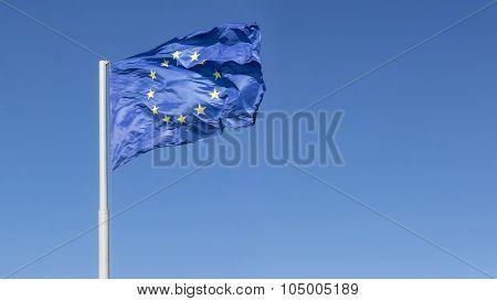 Flag Of The European Union, Closeup Shot