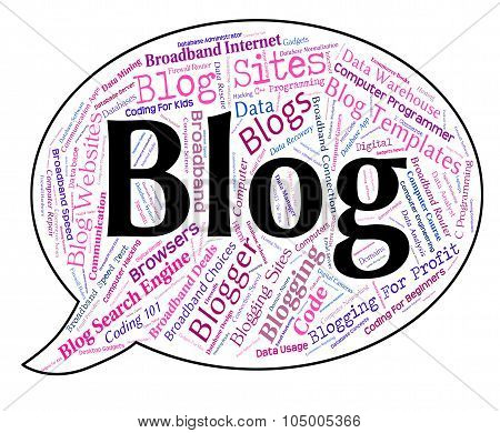Blog Word Represents Weblog Websites And Web