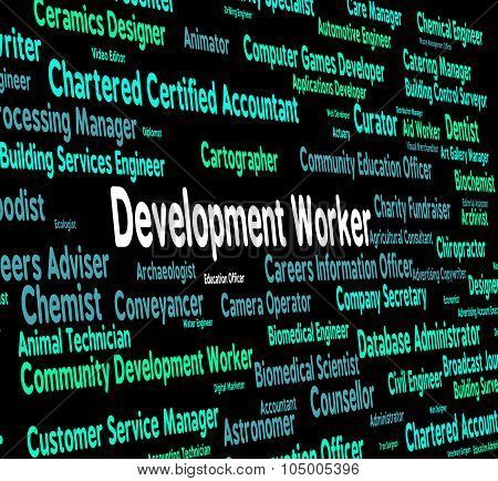 Development Worker Means Blue Collar And Career