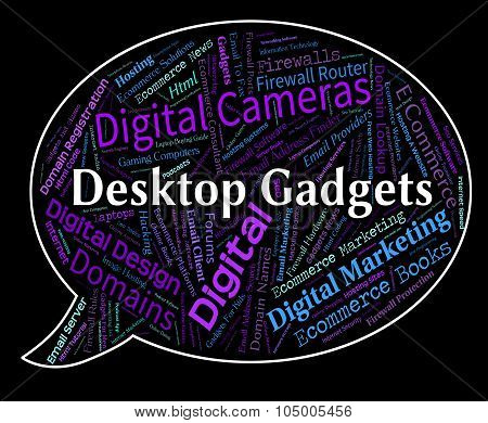 Desktop Gadgets Represents Gismos Gizmos And Mechanisms