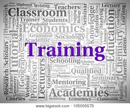 Training Word Shows Lessons Teach And Webinar