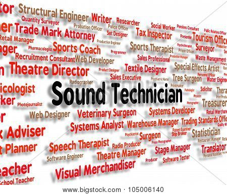 Sound Technician Shows Skilled Worker And Audio