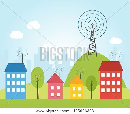 Illustration Of Wireless Signal