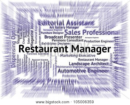 Restaurant Manager Indicates Supervisor Employer And Restaurants