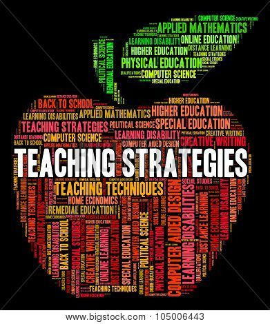 Teaching Strategies Represents Business Strategy And Coach