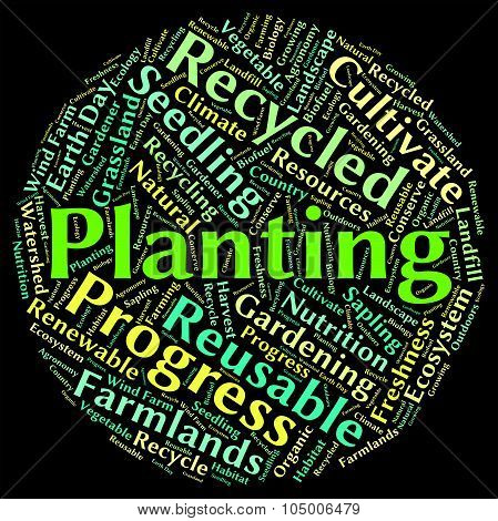 Planting Word Represents Sow Flora And Text